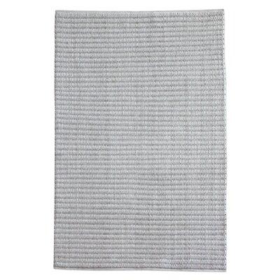 Nesler Hand-Woven Wool Gray/Ivory Area Rug Rug Size: 8 x 10