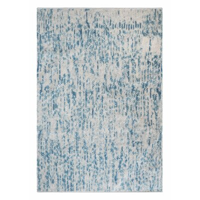 Neihoff Hand-Woven Gray/Blue Area Rug Rug Size: 8 x 10