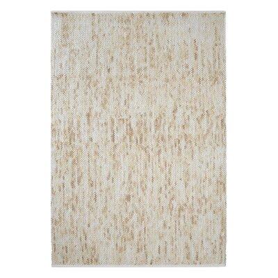 Neihoff Hand-Woven Wool Beige Area Rug Rug Size: 5 x 8
