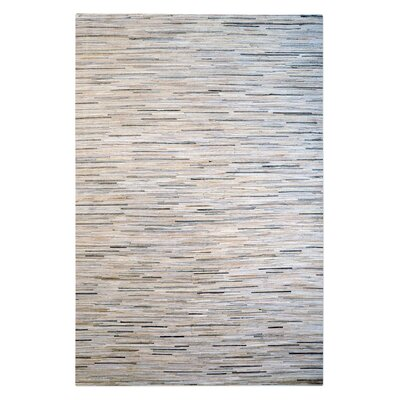 Neuman Hand-Woven Pearl/Gray Area Rug Rug Size: 8 x 10
