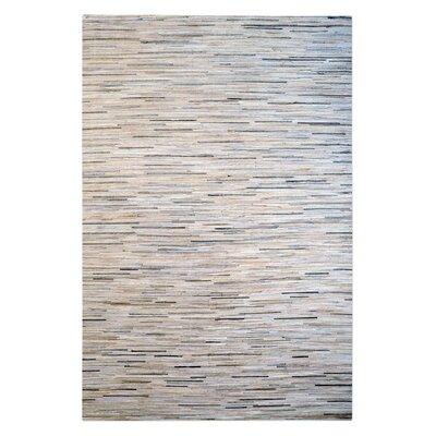 Neuman Hand-Woven Pearl/Gray Area Rug Rug Size: 5 x 8