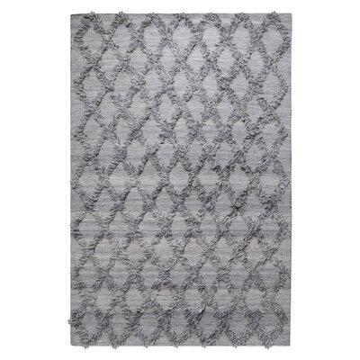 Nicosia Hand-Woven Wool Gray Area Rug Rug Size: 9 x 12