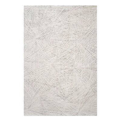 Nemeth Hand-Tufted Wool Ivory Area Rug Rug Size: 9 x 12