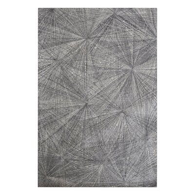 Nemeth Hand-Woven Wool Gray Area Rug Rug Size: 8 x 10