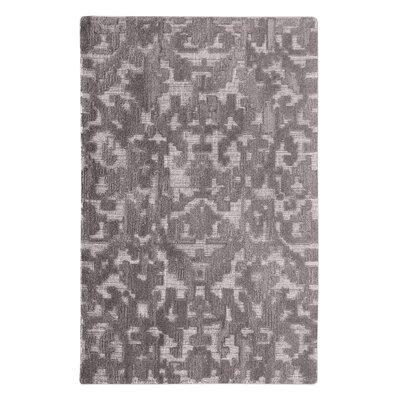 Vada Hand-Woven Wool Gray Area Rug Rug Size: 9 x 12