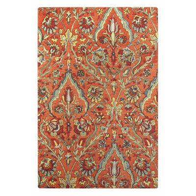 Evangelina Hand-Tufted Wool Red Area Rug Rug Size: 9 x 12