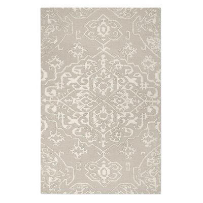 Brionna Hand-Woven Wool Beige/Ivory Area Rug Rug Size: 8 x 10