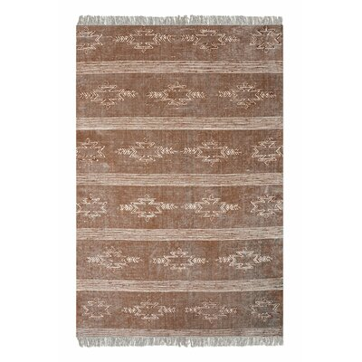 Hannes Hand-Woven Cotton Brown Area Rug Rug Size: 5' x 8'