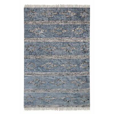 Hannes Hand-Woven Cotton Indigo Area Rug Rug Size: 8 x 10