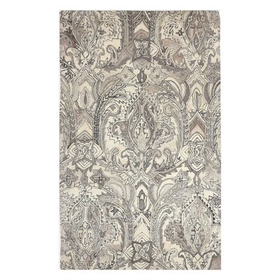 Claybrooks Hand-Tufted Wool Natural Area Rug Rug Size: 8 x 10