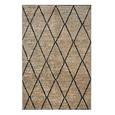 Nelms Hand-Woven Charcoal Area Rug Rug Size: 9 x 12
