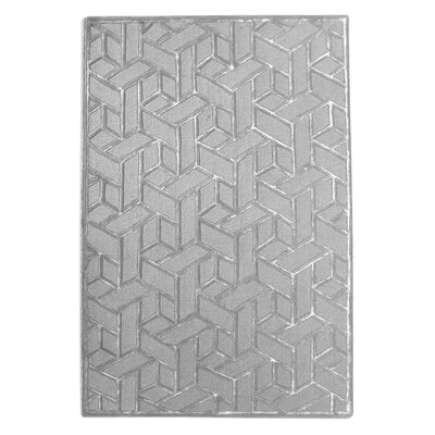 Netherton Hand Tufted Silver Area Rug Rug Size: 9 x 12