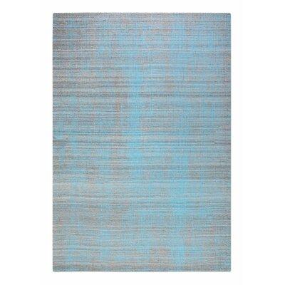 Neese Hand-Woven Wool Aqua Gray Area Rug Rug Size: 9 x 12