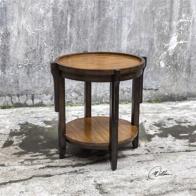 Eugenie Round Wooden End Table