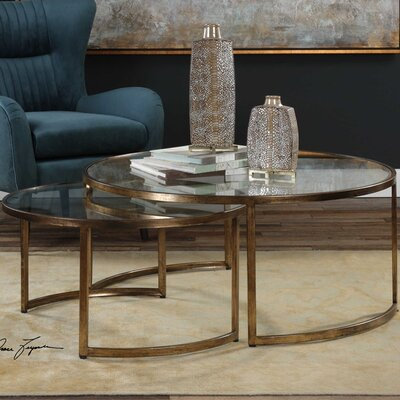 Nicklas 2 Piece Nested Coffee Table Set