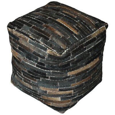 Hurst Pouf Upholstery: Dark Brown