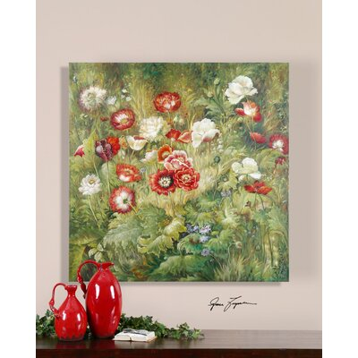 Nan's Floral Garden Canvas Wall Art By Grace Feyock - 48