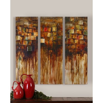 Foliage Blocks Canvas Wall Art By Graace Feyock - 45