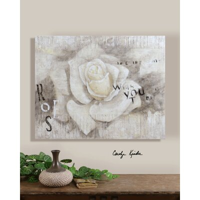 Rose Wishes Canvas Wall Art By Carolyn Kinder - 32