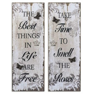 2 Piece Sayings by Grace Feyock Wall Art Set 36x13
