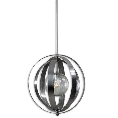Brookville Silver 1-Light Globe Pendant