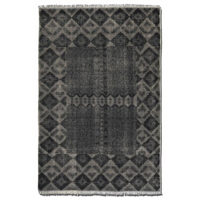 Aegean Aged Charcoal Area Rug Rug Size: 6 x 9