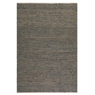 Neidig Hand Woven Leather Rug Rug Size: 9 x 12