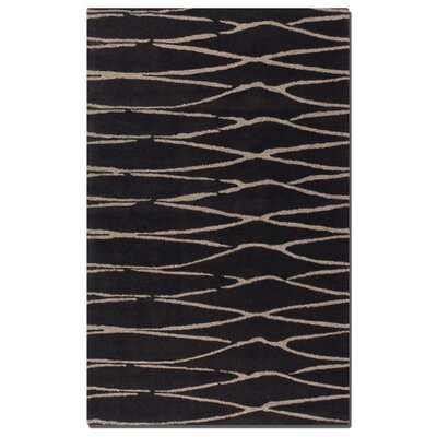 Temara Modern Hand-Tufted Dark�Chocolate Area Rug Rug Size: 5 x 8
