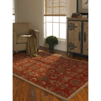 Favara Red Area Rug Rug Size: 8 x 10