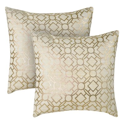 Foil Printed Throw Pillow