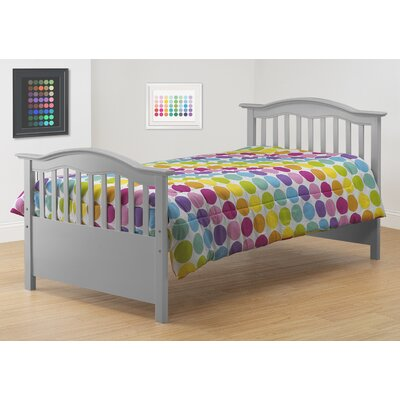 Twin Slat Bed Color: Gray