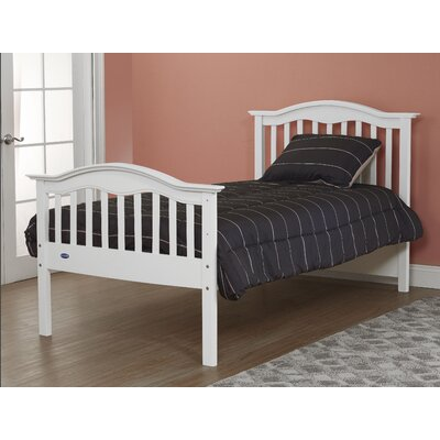 Twin Slat Bed Color: French White