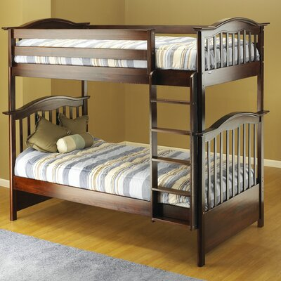 Curved Twin Bunk Bed Finish: Cherry