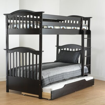 Curved Twin Bunk Bed Finish: Espresso
