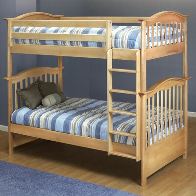 Curved Twin Bunk Bed Finish: Natural