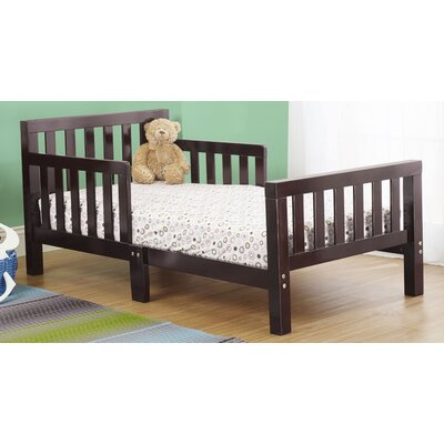 Extra Thick Convertible Toddler Bed Color: Espresso
