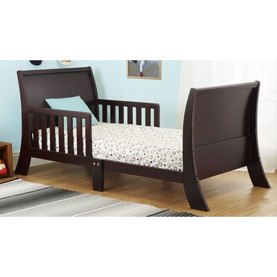 Louis Philippe Convertible Toddler Bed Color: Espresso