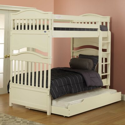 Imperial Twin Bunk Bed with Storage Finish: Natural Wood