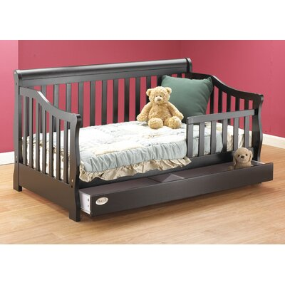 Buy low price toddler bed with storage drawer finish espresso ozz1047 7030373 - Toddler beds with drawers ...