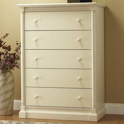 Imperial 5 Drawer Chest Color: French White