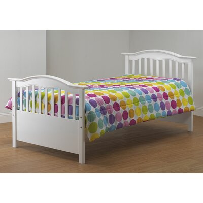 Twin Slat Bed Color: White