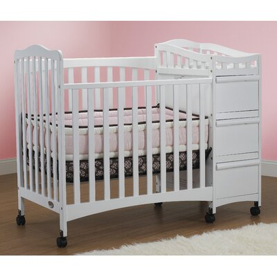 Portable   Toddlers on Crib N Bed 302 Mini Portable Crib In White