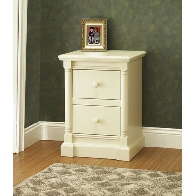 Imperial 2 Drawer Nightstand Color: French White