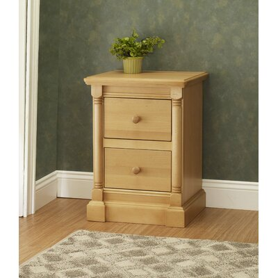 Imperial 2 Drawer Nightstand Finish: Natural