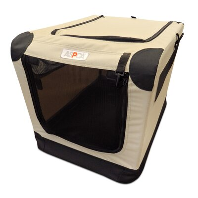 Soft Pet Carrier Size: Large (36 H x 24 W x 23 D), Color: Tan