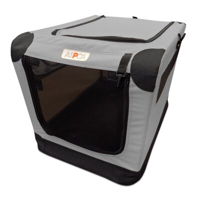 Soft Pet Carrier Size: Small (21 H x 15 W x 15 D), Color: Gray