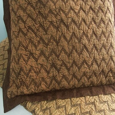 Eclectic Enzyme Wash Sham Color: Brown, Size: Euro