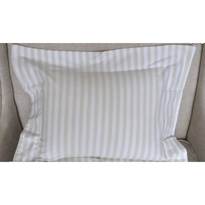 Jersey Knit Boys Stripes Cotton Boudoir/Breakfast Pillow Color: Green and White