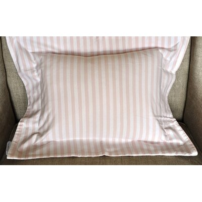 Jersey Knit Boys Stripes Cotton Boudoir/Breakfast Pillow Color: Pink and White