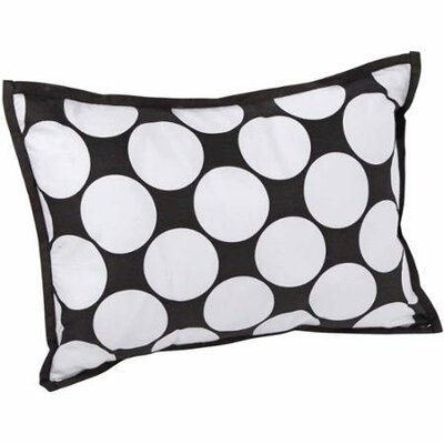 Dots/Pin Stripes Decorative Cotton Throw Pillow Color: Black/White